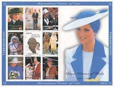 DIANA PRINCESS OF WALES MOTHER TERESA GANDHI POPE JOHN PAUL II MNH STAMP SHEET