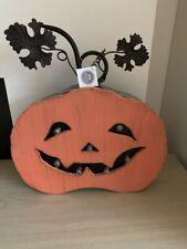 Halloween Metal Light Up Pumpkin Display