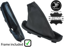 BLACK STITCH LEATHER HANDBRAKE GAITER+PLASTIC FRAME FOR FREELANDER 2 LR2 06-14