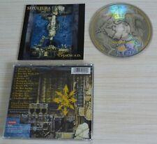 CD ALBUM CHAOS A.D. SEPULTURA 12 TITRES 1993