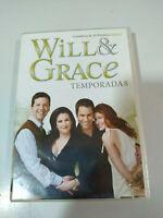 WILL & GRACE Temporada 8 Completa 3 X DVD Español Ingles Region 2