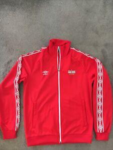 Umbro England Jacket Adult Medium Red Retro Style Excellent Condition