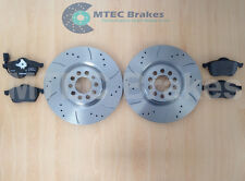 VW GOLF 312mm Front Drilled Grooved Brake Discs & Pads