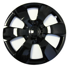 "Black 16"" Hub Caps Full Wheel Rim Covers w/Steel Clips (Set of 4) - KT-1000B-16"