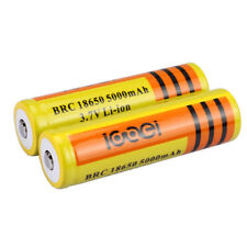 2pcs 18650 3.7V  5000mAH  Li-ion Rechargeable Battery For Flashlight Torch USA