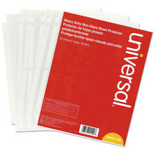 New Listinguniversal 21129 50 Pc Top Load Non Glare Poly Sheet Protectors Clear New