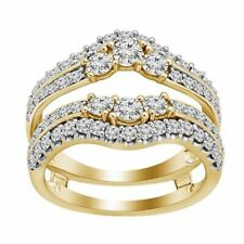 2.20 Ct Round Cut Diamond Womens Solitaire Wrap Engagement Wedding Enhancer Ring