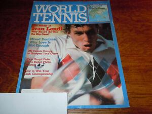 "VINTAGE JANUARY 1983 "" WORLD TENNIS "" MAGAZINE - IVAN LENDL COVER"