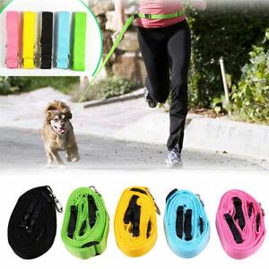 1pcs Pet Dog Running Lead Leash Nylon Hands-free Waist Belt Strap Traction Rope