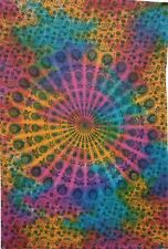 Multi Peacock Mandala Cotton Textile Twin Tapestry Bedspread Wall Hanging Ethnic