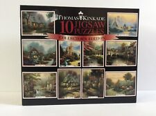 BRAND NEW CEACO THOMAS KINKADE 10 JIGSAW PUZZLES BOX COLLECTOR EDITION SEALED