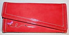 """Brighton"" Envelope Wallet~Patent~Raspberry~NWT"