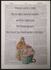 Mrs Tittlemouse Beatrix Potter Quote Vintage Dictionary Page Print Art Picture