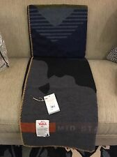 New! RARE Woolrich Pennsylvania Mid-state Trail Wool Throw Blanket. Made In USA.