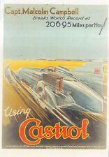 Bluebird Campbell Castrol Poster MODERN POSTCARD by Classic & Sports Car