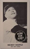 1959 MICKEY MANTLE  HOME RUN DERBY REPRINT CARD YANKEE