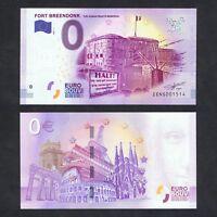 2017 BELGIUM ZERO 0 EURO UNC > FORT BREENDONK THE HUMAN RIGHTS MEMORIAL