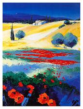 Richard Moisan collines tu Luberon poster Art Imprimé Image 40x30cm-sans frais de port