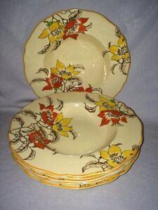 """**VERY RARE** Royal Doulton 'Magnella' 6 x 9"""" Soup Bowls (D5128)"""