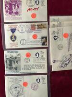 FDC by Mrs Jones Purpler Heart (7) Covers AB-154