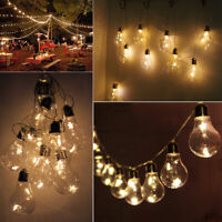 LYYT Indoor LED Festoon Lights Warm White Party Christmas Battery Bauble