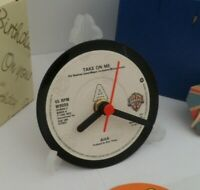* new * A-HA - CLOCK actual VINYL RECORD CENTRE Desk / Side Table  + Stand