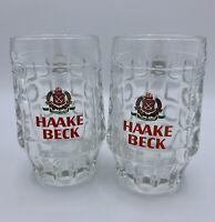 Set of 2 - HAAKE BECK Pilsner German Beer Mug 0.3L Vintage Collectible - Thick