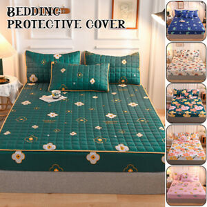 Mattress Cover Velvet Thicken Quilted Bed Fitted Sheet Case Bed Protection Pad