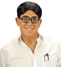 NERD WIG AND GLASSES SPECS GEEK SCHOOLBOY FUNNY NOVELTY ADULT