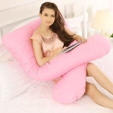 Pregnancy Maternity Full Body Support Pillow Cushion U Shape Maternity Pink