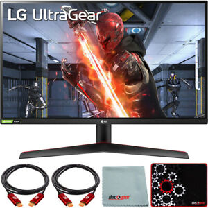 "LG 27"" UltraGear QHD IPS 144Hz 16:9 G-SYNC HDR Monitor with Mouse Pad Bundle"