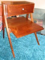 Drexel Declaration Rare End Table Midcentury Danish Modern Mad Men Spectacular!