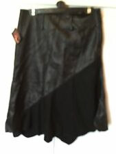 NWT Designer LEATHEROTICS Real Leather And Wool Skirt-Fits Uk 12-Cost £250!