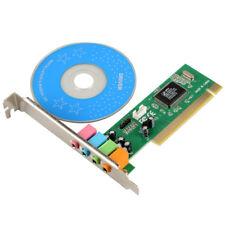 4 Channel 5.1 Surround 3D PCI Sound Audio Card MIDI for PC Windows XP/7/VISTA