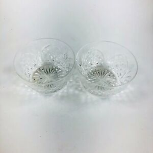 A pair of fine cut glass crystal finger bowls. Probably late19th/early 20thc.