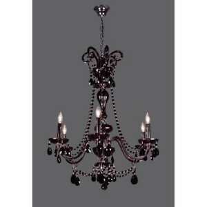 Classic Lighting Monte Carlo Elite Crystal Chandelier, Black - 82016CBK