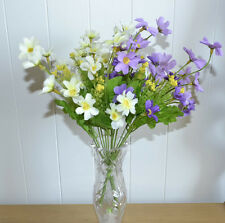 2x bouquet de fleurs artificiel fleurs fleurs artificielles blanc violet neuf