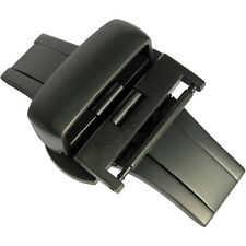 22mm Hadley-Roma BKL150 Matte Black PVD Butterfly Deployant Clasp Buckle