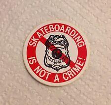 Vintage skateboard sticker Santa Cruz Skateboarding Is Not A Crime NOS Powell