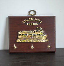 Niagara Falls Maid of the Mist  Wooden Wall Key Rack Holder Plaque - Canadian
