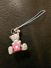 Me To You Bear - With Bell & Flower - Phone Charm/Bag Charm - Grey Bear