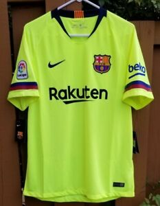 New Nike FC Barcelona 18/19 Away Stadium Soccer Jersey (918990-703) Size Large