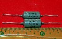 Matched Pair 0.015uF .015uF 15nf  400V USSR  Guitar Tone Capacitors PIO