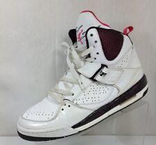 Women's Nike Air Jordan Flight 45 Hi Top White Pink Sneakers Size 7Y 384520‑115