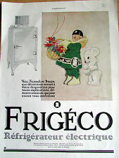 FRIGECO REFRIGERATEUR RENE VINCENT  DIVERS 85 ILLUSTRATION  ANCIENNE