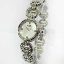Rotary Stainless Steel Case Gemmed Wristwatches