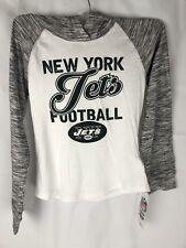 New York Jets Hoodie NFL Team Apparel Hooded Long Sleeve Youth Girls L 10/12 (J