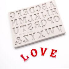 English Alphabets Letter Silicone Fondant Mold Chocolate Mould Cake Decor Tool_S