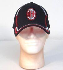 A.C. Milan Football Club Black Adjustable Baseball Cap Hat Adult One Size NWT