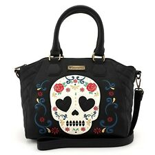 Loungefly Rose Sugar Skull Day of the Dead Black Purse